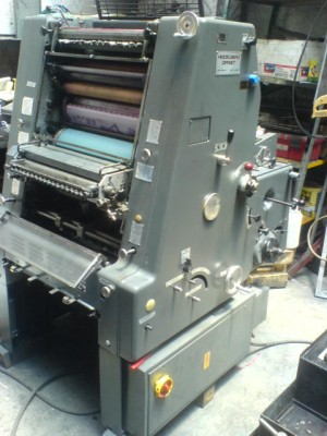 heidelberg gto 32x46 doble  carta  un color con folio