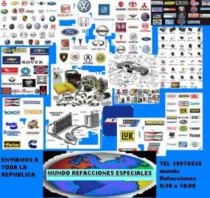 refacciones espaciales, complejas, dificil de encontrar