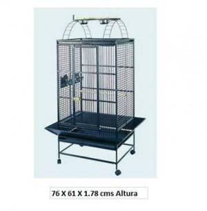 jaula para loros y aves nuevas de acero inoxidable