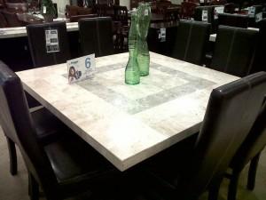 impresionantes comedores en marmol, onix y granito natural