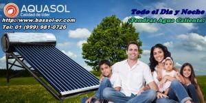 agua caliente con calentadores de agua solar