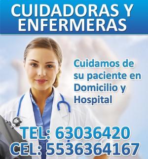 cuidadoras y enfermeras particulares, para hospital o domicilio