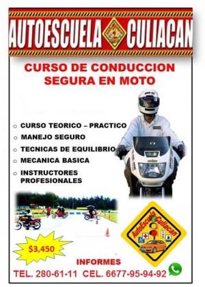 escuelas de manejo en moto y en auto en culiacan