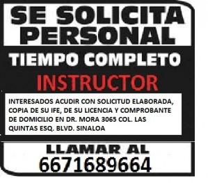 instructor de manejo en culiacan . .