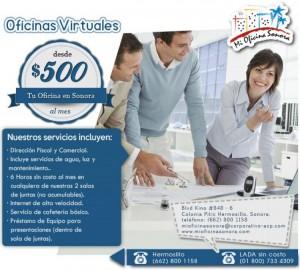 renta de oficinas en hermosillo, sonora a partir de $500 pesos mensual