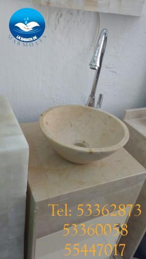 lavabo de marmol cono para cubierta de baño