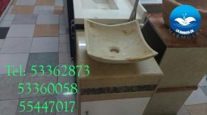 lavabo de marmol modelo pañuelo para baño