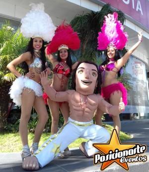 show de bailarinas: carnaval, desfiles, eventos. posicionarte.