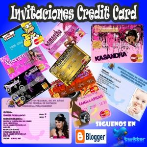 fashion card invitaciones tipo tarjeta de credito